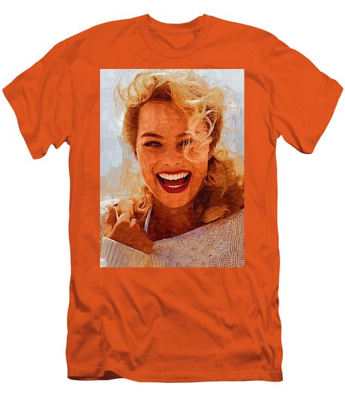 Hollywood Star Margot Robbie Men's T-Shirt (Athletic Fit)