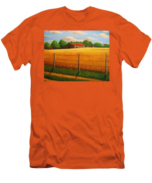 Home On The Farm Men's T-Shirt (Slim Fit) by Gene Gregory