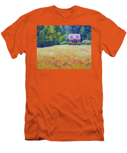 Men's T-Shirt (Slim Fit) featuring the painting Homestead by Nancy Jolley