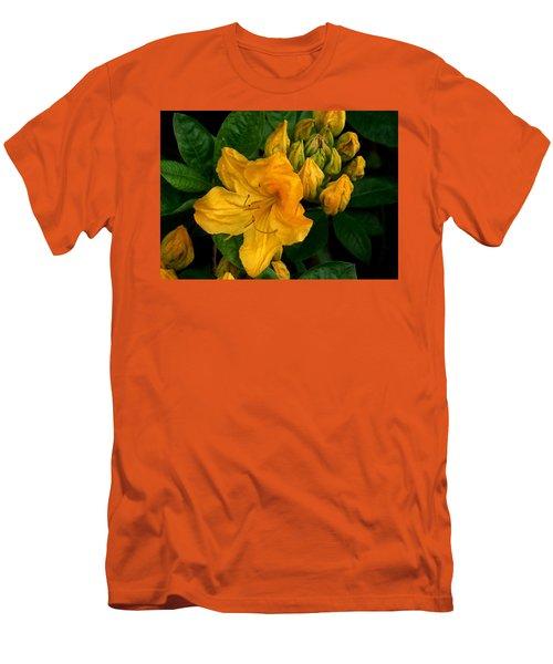 Honeysuckle Azalea Men's T-Shirt (Slim Fit) by Karen Molenaar Terrell