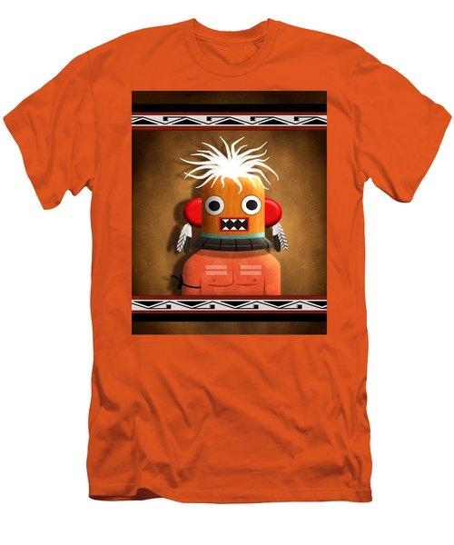 Men's T-Shirt (Slim Fit) featuring the digital art Hopi Indian Kachina by John Wills
