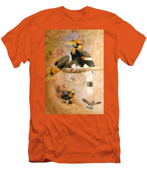 Hornbill  Men's T-Shirt (Athletic Fit)