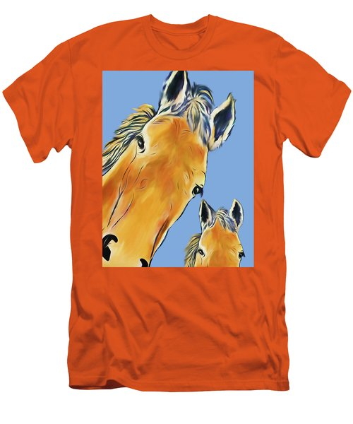 Horse Heads Men's T-Shirt (Slim Fit) by Terry Cork