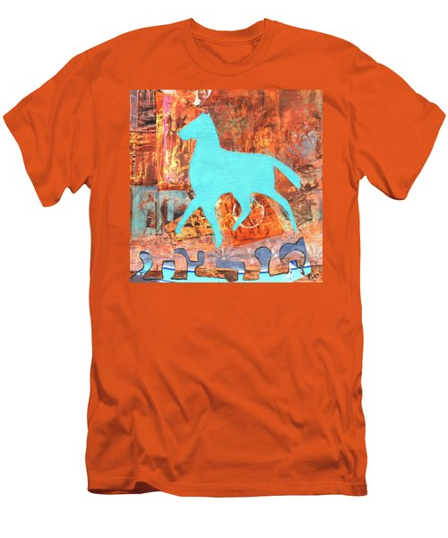 Horse Remix Men's T-Shirt (Slim Fit) by Patricia Cleasby