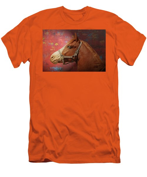 Horse Texture Portrait Men's T-Shirt (Athletic Fit)