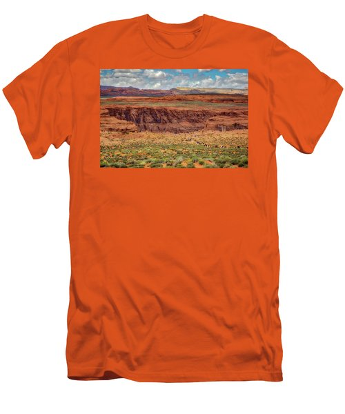 Men's T-Shirt (Slim Fit) featuring the photograph Horseshoe Bend Arizona #2 by Jennifer Rondinelli Reilly - Fine Art Photography