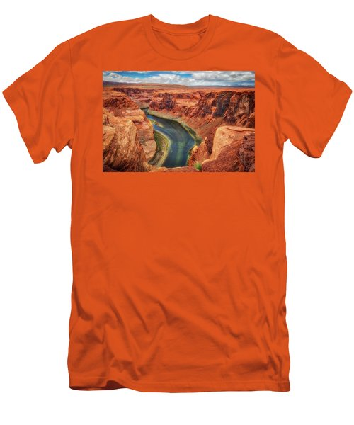Men's T-Shirt (Slim Fit) featuring the photograph Horseshoe Bend Arizona - Colorado River #2 by Jennifer Rondinelli Reilly - Fine Art Photography