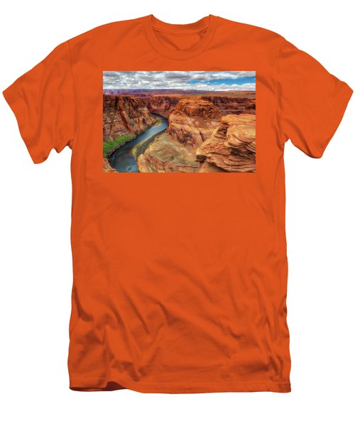 Men's T-Shirt (Slim Fit) featuring the photograph Horseshoe Bend Arizona - Colorado River $4 by Jennifer Rondinelli Reilly - Fine Art Photography