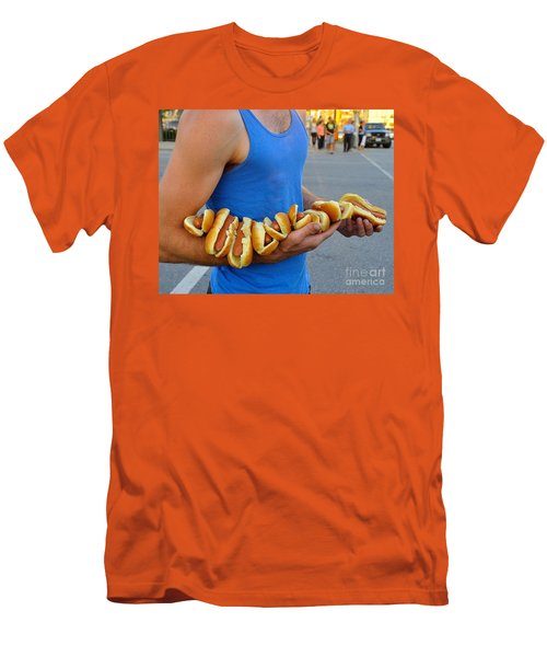 Hot Dog Man Men's T-Shirt (Athletic Fit)