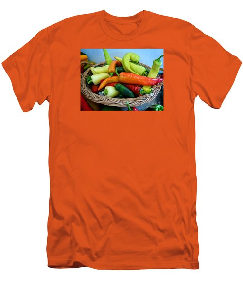 Hot Peppers Men's T-Shirt (Athletic Fit)