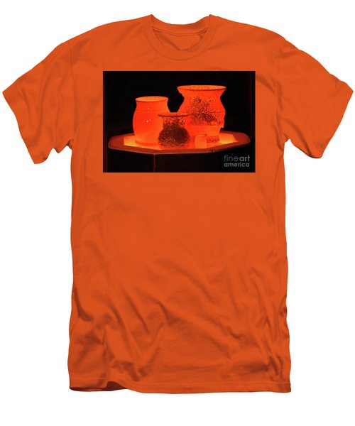 Men's T-Shirt (Slim Fit) featuring the photograph Hot Pots by Skip Willits