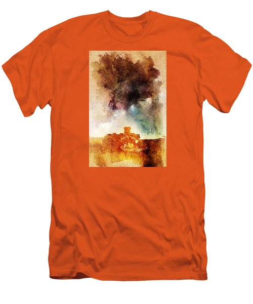 House And Night Men's T-Shirt (Slim Fit) by Andrea Barbieri
