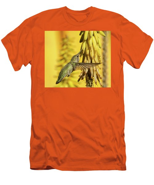 Men's T-Shirt (Athletic Fit) featuring the photograph Hummingbird Gold  by Saija Lehtonen