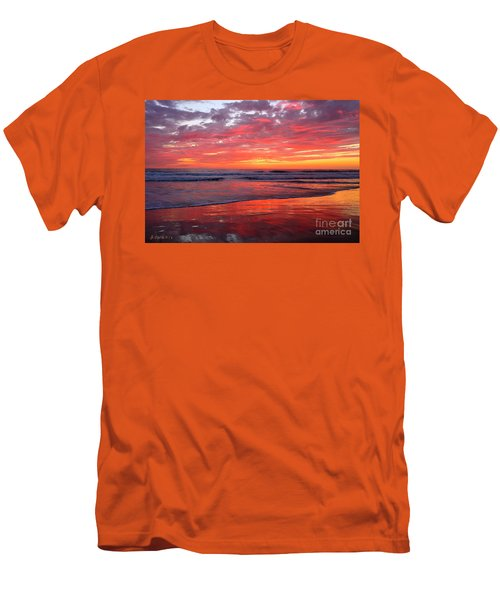 Men's T-Shirt (Athletic Fit) featuring the photograph North County Waves by John F Tsumas