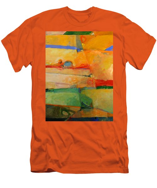 Men's T-Shirt (Slim Fit) featuring the painting I'm In Corn  by Cliff Spohn