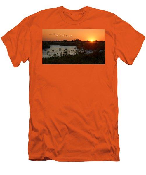 Impalila Island Sunrise Men's T-Shirt (Slim Fit) by Joe Bonita