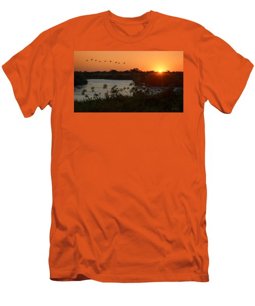 Impalila Island Sunrise Men's T-Shirt (Athletic Fit)