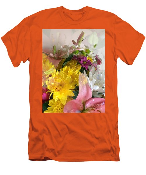 Impressionist Spring Bouquet Men's T-Shirt (Athletic Fit)