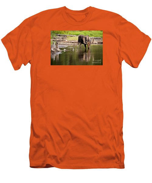 Men's T-Shirt (Slim Fit) featuring the photograph In The Drink by Aaron Whittemore