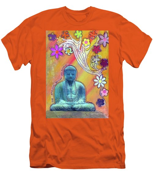 Men's T-Shirt (Slim Fit) featuring the mixed media Inner Bliss by Desiree Paquette