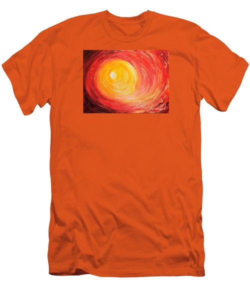 Men's T-Shirt (Slim Fit) featuring the painting Into The Light by Teresa Wegrzyn