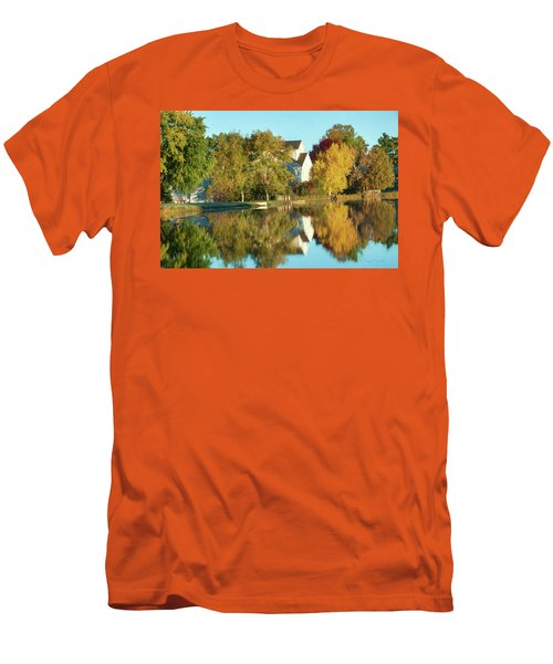 Iola Mill Fall View Men's T-Shirt (Athletic Fit)
