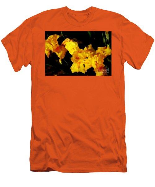 Irises Men's T-Shirt (Slim Fit) by David Blank