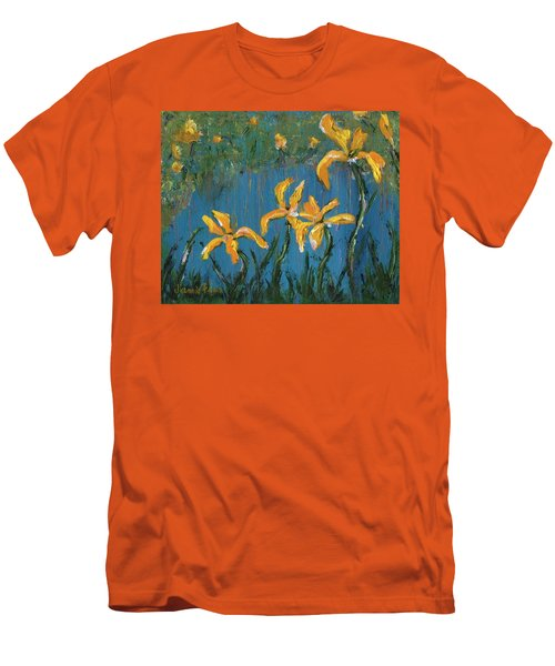 Men's T-Shirt (Athletic Fit) featuring the painting Irises by Jamie Frier