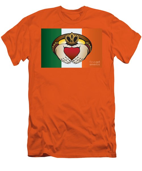 Irish Claddagh Art Men's T-Shirt (Athletic Fit)
