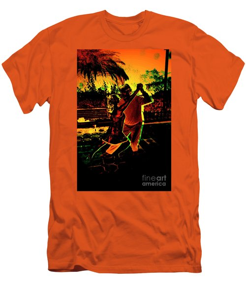 Men's T-Shirt (Slim Fit) featuring the photograph It Takes Two To Tango by Al Bourassa