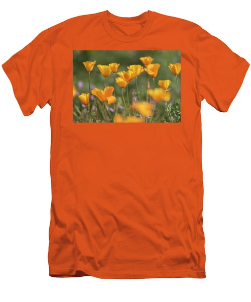 Men's T-Shirt (Slim Fit) featuring the photograph It's A Poppy Thing  by Saija Lehtonen