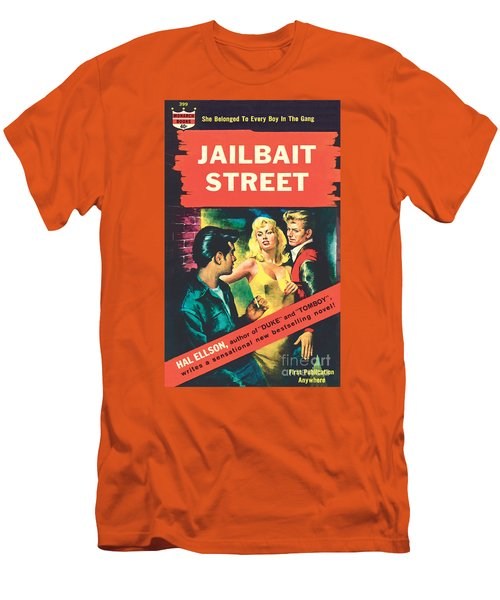 Men's T-Shirt (Slim Fit) featuring the painting Jailbait Street by Ray Johnson