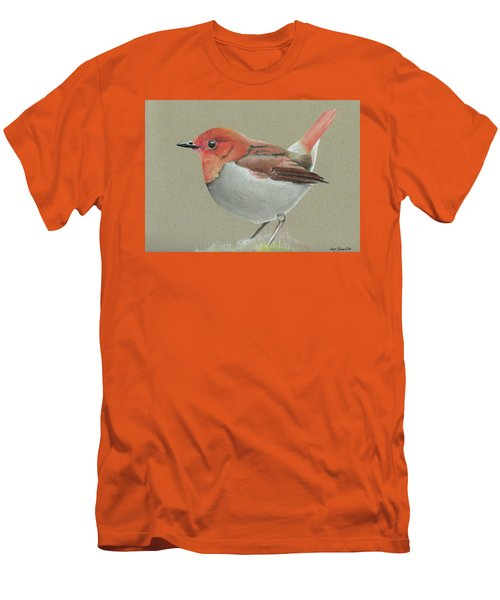 Japanese Robin Men's T-Shirt (Slim Fit) by Gary Stamp