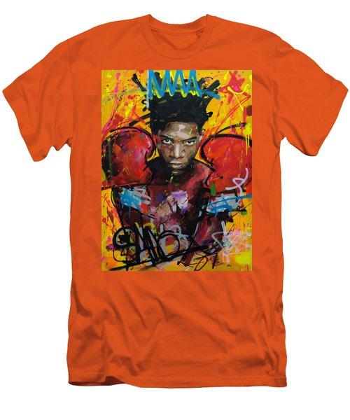 Jean-michel Basquiat Men's T-Shirt (Slim Fit) by Richard Day