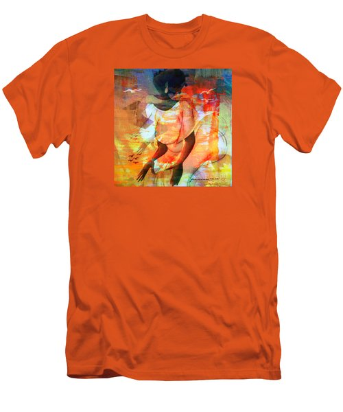Men's T-Shirt (Slim Fit) featuring the mixed media Jeanine by Fania Simon