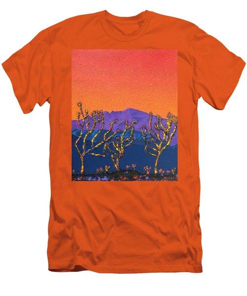 Joshua Trees Men's T-Shirt (Slim Fit) by Mayhem Mediums