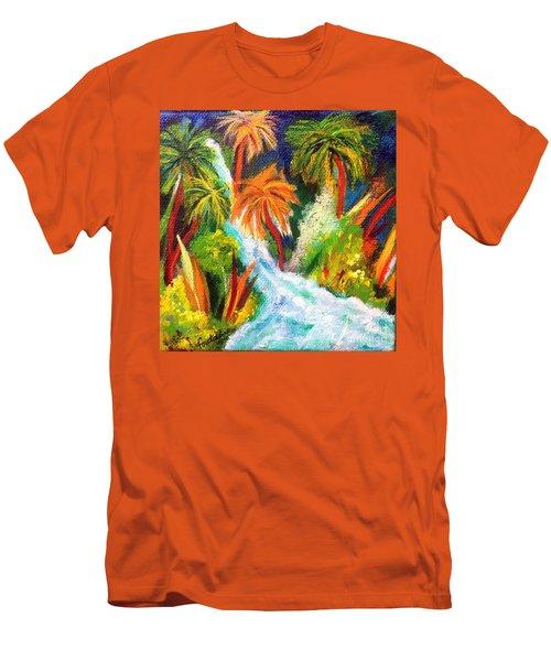 Jungle Falls Men's T-Shirt (Slim Fit) by Elizabeth Fontaine-Barr