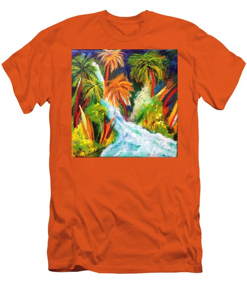 Jungle Falls Men's T-Shirt (Athletic Fit)