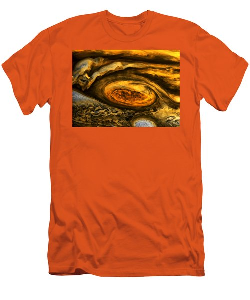 Jupiter's Storms. Men's T-Shirt (Athletic Fit)