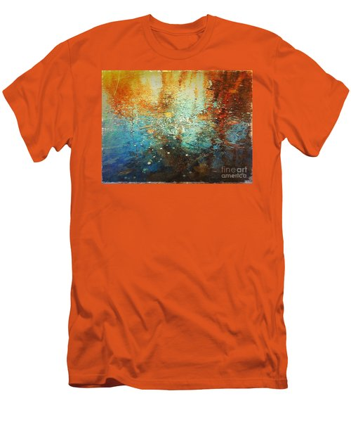 Just A Happy Day Men's T-Shirt (Slim Fit) by Delona Seserman