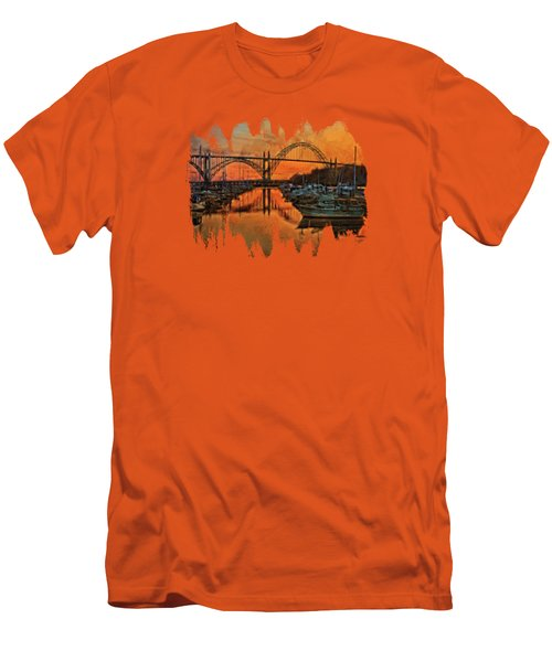 Just After Sunset On Yaquina Bay Men's T-Shirt (Slim Fit) by Thom Zehrfeld