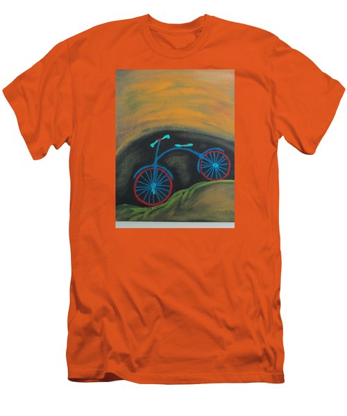 Men's T-Shirt (Slim Fit) featuring the painting Just Roamin by Sharyn Winters