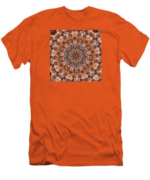 Kaleidoscope 121 Men's T-Shirt (Slim Fit) by Ron Bissett