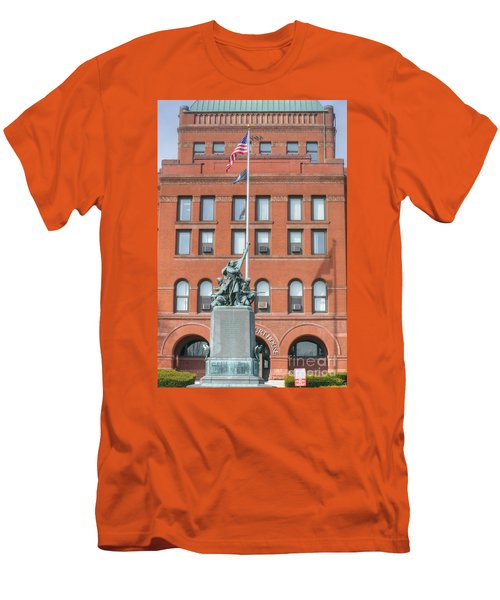 Kane County Courthouse Men's T-Shirt (Slim Fit) by David Bearden