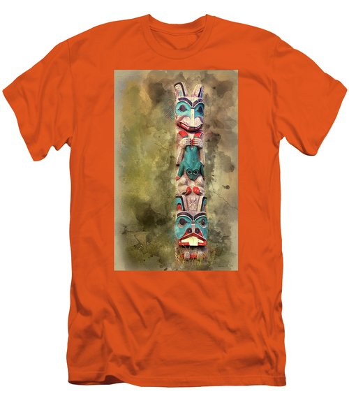 Ketchikan Alaska Totem Pole Men's T-Shirt (Slim Fit) by Bellesouth Studio