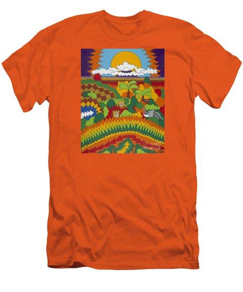 Kilimanjaro Men's T-Shirt (Slim Fit) by Rojax Art