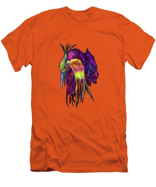 Kingfisher Falling La Caida Del Martin P Men's T-Shirt (Athletic Fit)