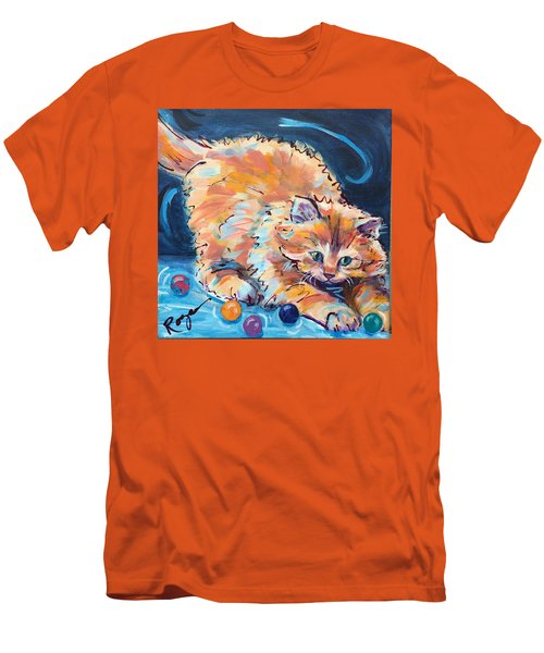 Kitty Keepsies Men's T-Shirt (Athletic Fit)