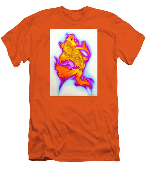 Koi Fish Water Color Edition Men's T-Shirt (Slim Fit) by Justin Moore