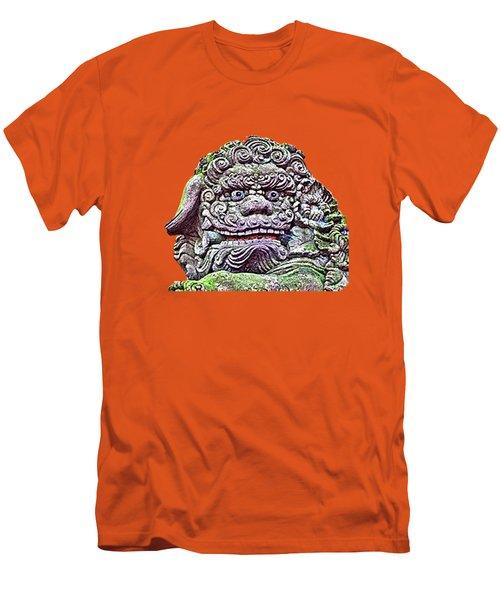 Men's T-Shirt (Athletic Fit) featuring the mixed media Komainu22 by Yoshimitsu Takuki